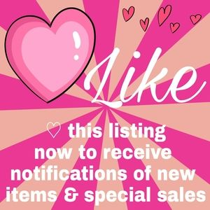LIKE This Listing for Notifications - Add a Heart!
